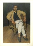 Lot #1136: LUCIAN FREUD - Man in a String Chair - Color offset lithograph