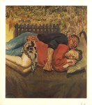 Lot #1991: LUCIAN FREUD - Ib and Her Husband - Color offset lithograph