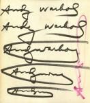 Lot #166: ANDY WARHOL - Six Warhol Signatures - Offset lithograph