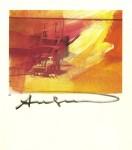Lot #572: ANDY WARHOL - Electric Chair - Color offset lithograph