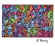 Lot #1372: KEITH HARING - Circus - Color offset lithograph