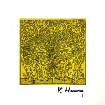 Lot #938: KEITH HARING - Red X - Color offset lithograph