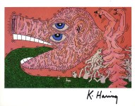 Lot #1803: KEITH HARING - Nursing - Color offset lithograph
