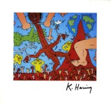 Lot #2085: KEITH HARING - Dove of Peace - Color offset lithograph
