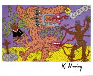 Lot #2048: KEITH HARING - Five Eyes - Color offset lithograph