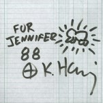 Lot #224: KEITH HARING - Radiant Baby - Marker drawing on paper