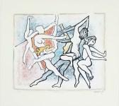 Lot #1939: HERMAN KRIKHAAR - La Danse - Original color offset lithograph