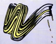 Lot #1407: ROY LICHTENSTEIN - Brushstroke - Original color offset lithograph