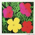 "Lot #1272: ANDY WARHOL - Flowers (""Red & Green"") - Original color silkscreen"
