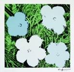 "Lot #1273: ANDY WARHOL - Flowers (""Blue & Green"") - Original color silkscreen"