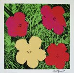 Lot #1275: ANDY WARHOL - Flowers - Original color silkscreen