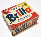 Lot #1409: ANDY WARHOL - Brillo Pads Box - Color inks on stiff paperboard