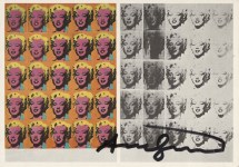 Lot #385: ANDY WARHOL - Marilyn Diptych - Original color offset lithograph