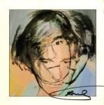 Lot #183: ANDY WARHOL - Self-Portrait - Original color offset lithograph
