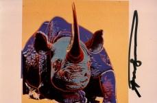 Lot #686: ANDY WARHOL - Black Rhinoceros - Original color analogue photograph
