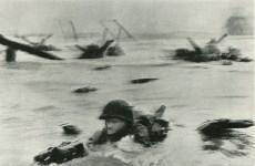 Lot #292: ROBERT CAPA - Omaha Beach, Normandy, France: D-Day, June 6, 1944 - Original photogravure