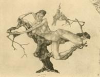 Lot #451: PAUL KLEE - Jungfrau im Baum - Lithograph after the original etching