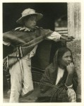 Lot #1510: PAUL STRAND - Woman and Boy, Tenancingo - Original photogravure