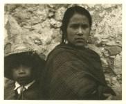 Lot #753: PAUL STRAND - Young Woman and Boy, Toluca - Original photogravure