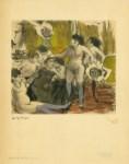 Lot #542: EDGAR DEGAS - Fete de la patronne - Original color gravure with pochoir, after the monotype