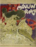 Lot #349: PIERRE BONNARD - Moulin Rouge - Original color lithograph, after the drawing