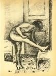 Lot #1290: PIERRE BONNARD - Femme a sa toilette - Original lthograph