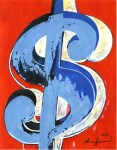 Lot #1500: ANDY WARHOL - $ [dollar sign] - Acrylic, ink, & watercolor on paper