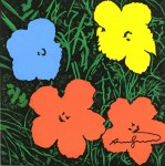 Lot #1274: ANDY WARHOL - Flowers - Acrylic, ink, & watercolor on paper