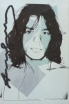 Lot #365: ANDY WARHOL - Mick Jagger #01 (first edition) - Color offset lithograph