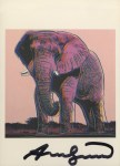 Lot #1480: ANDY WARHOL - African Elephant - Color offset lithograph