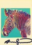 Lot #1242: ANDY WARHOL - Grevy's Zebra - Color offset lithograph