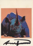 Lot #1424: ANDY WARHOL - Black Rhinoceros - Color offset lithograph