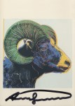 Lot #1425: ANDY WARHOL - Bighorn Ram - Color offset lithograph