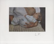 Lot #562: LUCIAN FREUD - Esther and Albie - Color offset lithograph