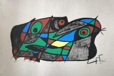 Lot #2042: JOAN MIRO - Fotoscope Sueco - Mixed media (gouache, watercolor, ink) on paper