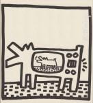 Lot #1438: KEITH HARING - Barking TV Dog - Lithograph