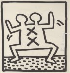 Lot #2087: KEITH HARING - Double-Headed X Man - Lithograph