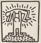 Lot #1739: KEITH HARING - Push-up Man - Lithograph