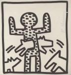 Lot #2093: KEITH HARING - Dog Hoop - Lithograph