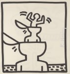 Lot #2108: KEITH HARING - Cup Heads - Lithograph