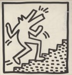 Lot #1440: KEITH HARING - Barking Dog on Stairs - Lithograph