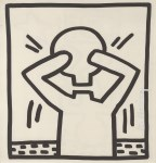 Lot #2005: KEITH HARING - Headless Man with Head - Lithograph