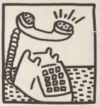 Lot #1713: KEITH HARING - Ringing Telephone - Lithograph
