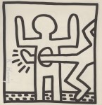 Lot #2074: KEITH HARING - Empty Stomach - Lithograph
