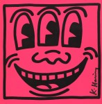 Lot #99: KEITH HARING - Three-Eyed Smiley Face - Color offset lithograph