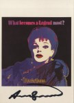 Lot #1423: ANDY WARHOL - Blackglama (Judy Garland) - Color offset lithograph