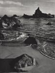 Lot #933: ANSEL ADAMS - Rock and Surf, Monterey Coast, California - Original photogravure