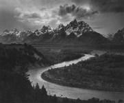 Lot #102: ANSEL ADAMS - The Tetons and the Snake River, Grand Teton National Park, Wyoming - Original photogravure