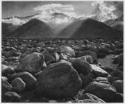 Lot #1085: ANSEL ADAMS - Mt. Williamson, Sierra Nevada, from Manzanar, California - Original photogravure