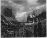Lot #638: ANSEL ADAMS - Clearing Winter Storm, Yosemite National Park, Calformia - Original photogravure